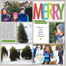 Christmas Project Life layout by RebeccaH using Project Mouse: Christmas by Britt-ish Designs & Sahlin Studio