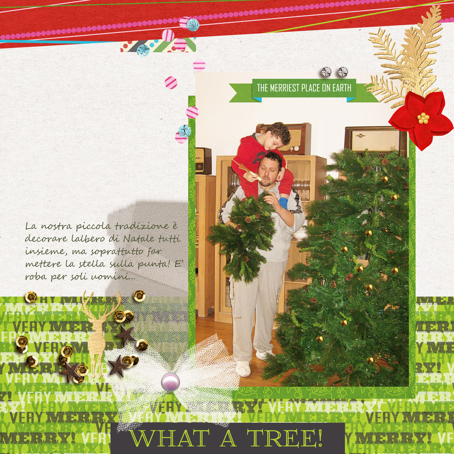 Christmas layout by Rossana  using Project Mouse: Christmas by Britt-ish Designs & Sahlin Studio