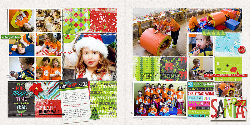 Christmas projectlife double page layout by amberr using Project Mouse: Christmas by Britt-ish Designs & Sahlin Studio