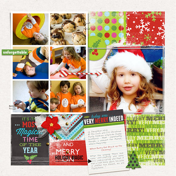 Christmas project life layout by amberr-l using Project Mouse: Christmas by Britt-ish Designs & Sahlin Studio