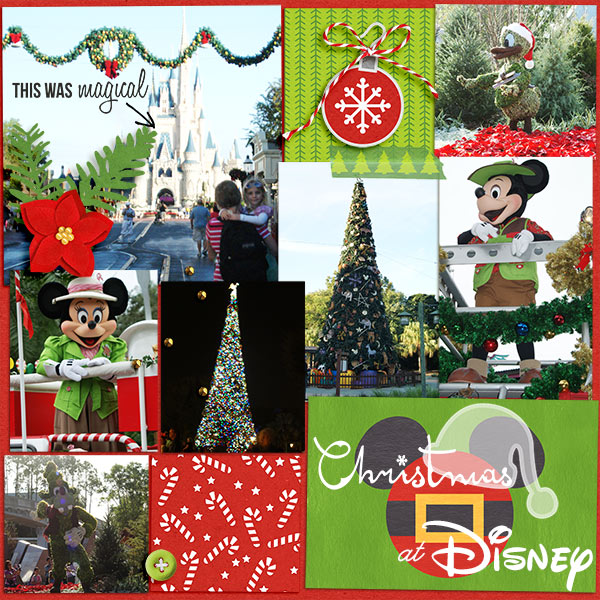 Disney Christmas Project Life by becca1976 using Project Mouse: Christmas by Britt-ish Designs & Sahlin Studio