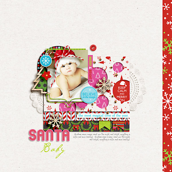 Christmas layout by kewl_jive using Project Mouse: Christmas by Britt-ish Designs & Sahlin Studio
