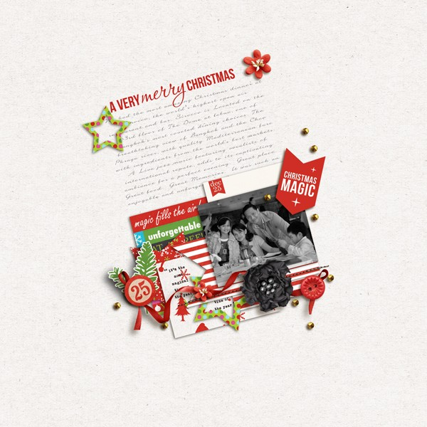 Christmas layout by margelz  using Project Mouse: Christmas by Britt-ish Designs & Sahlin Studio