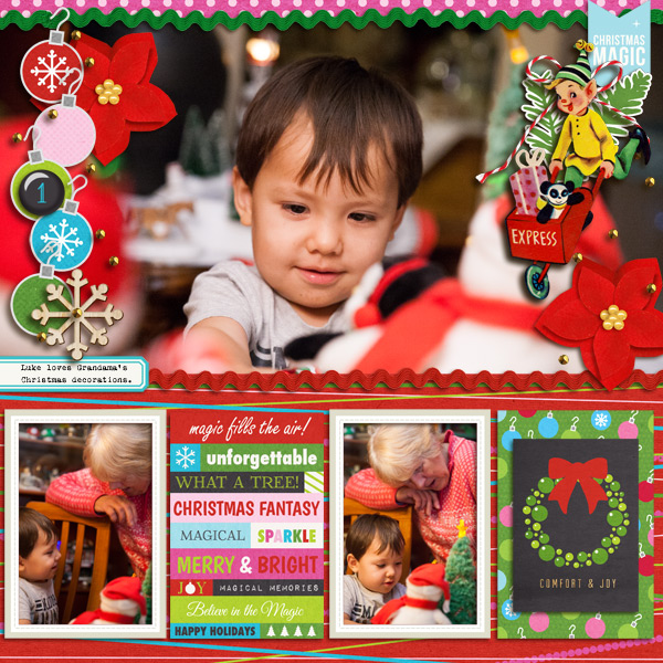 Christmas layout by mikinenn using Project Mouse: Christmas by Britt-ish Designs & Sahlin Studio