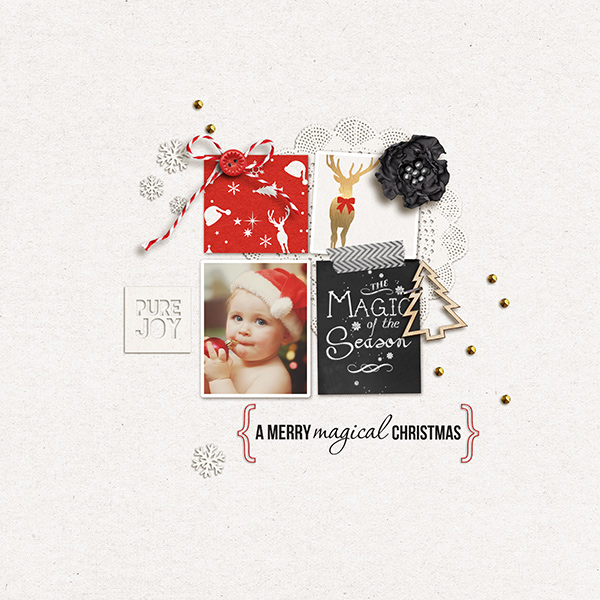Christmas layout by sucali using Project Mouse: Christmas by Britt-ish Designs & Sahlin Studio