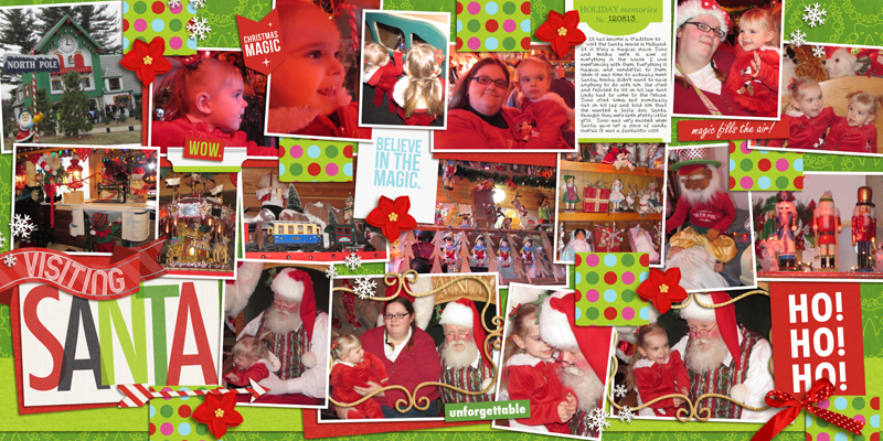 Christmas double page full layout by yzerbear19 using Project Mouse: Christmas by Britt-ish Designs & Sahlin Studio