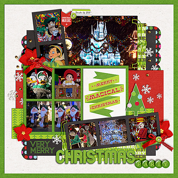 Christmas Disney layout by zippyoh using Project Mouse: Christmas by Britt-ish Designs & Sahlin Studio