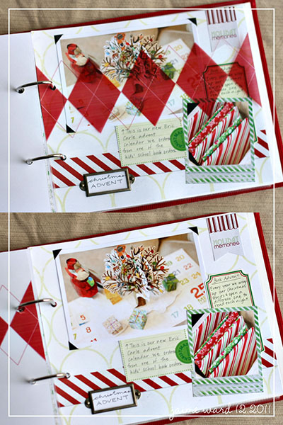 December Daily album by simply-j-studio featuring Kitschy Christmas by Sahlin Studio and Jenn Barrette