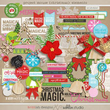 Project Mouse (Christmas): Elements by Britt-ish Designs and Sahlin Studio