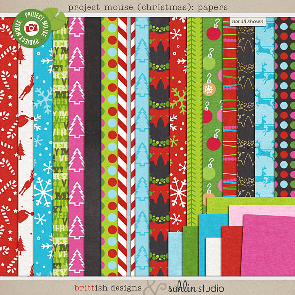 Project Mouse (Christmas): Papers by Britt-ish Designs and Sahlin Studio
