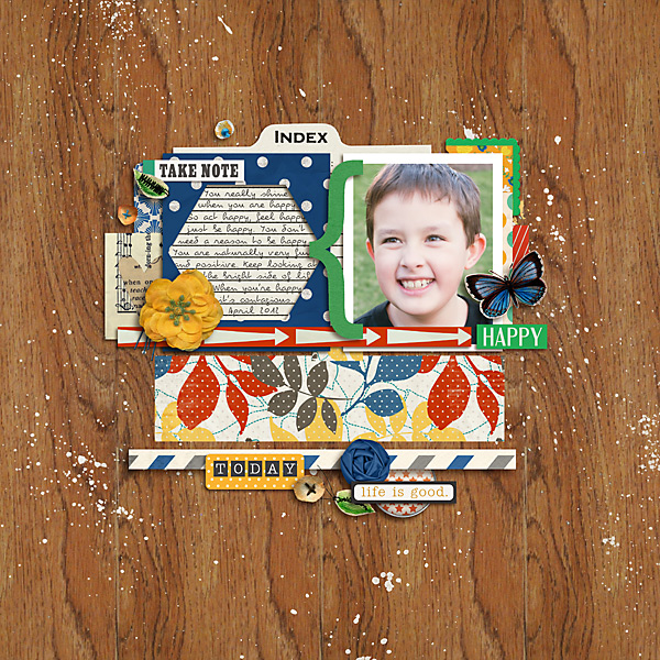 wonderful layout created by carolee featuring A Wonderful Day by Sahlin Studio