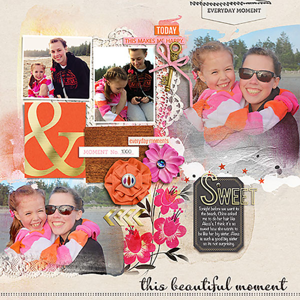 digital layout by Heather Prins  using life as we know it kit by sahlin studio and sugarplum paperie