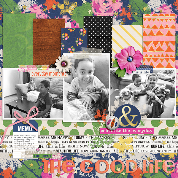 digital layout by PuSticks using life as we know it kit by sahlin studio and sugarplum paperie