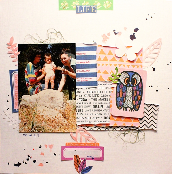 Everyday PAPER scrapbook layout by Rossana1 using Life As We Know It kit by sahlin studio and sugarplum paperie