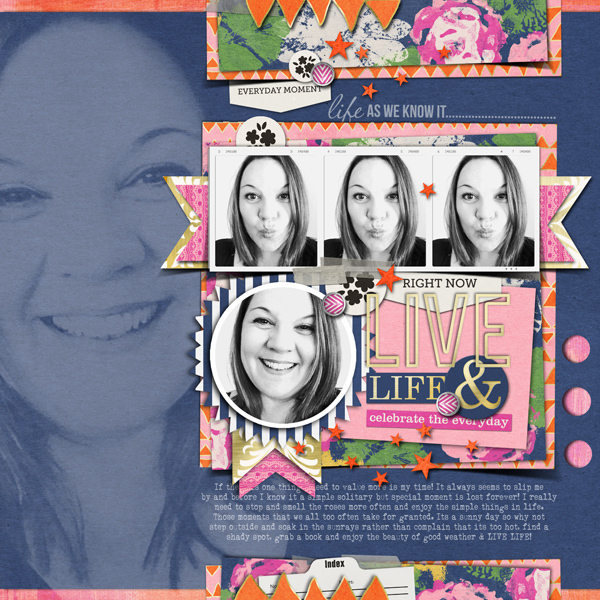 aam digital layout by justagirl using life as we know it kit by sahlin studio and sugarplum paperie