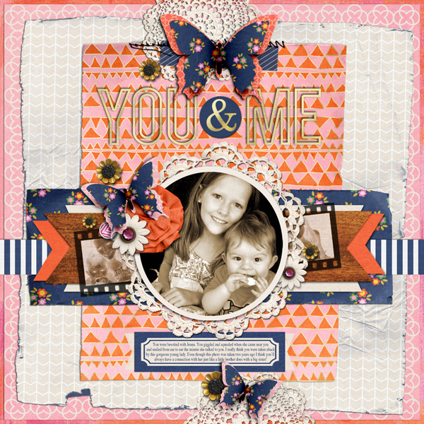 you and me digital layout by justagirl  using life as we know it kit by sahlin studio and sugarplum paperie