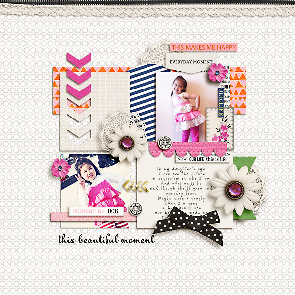 Everyday scrapbook layout by kewl_jive using Life As We Know It kit by sahlin studio and sugarplum paperie
