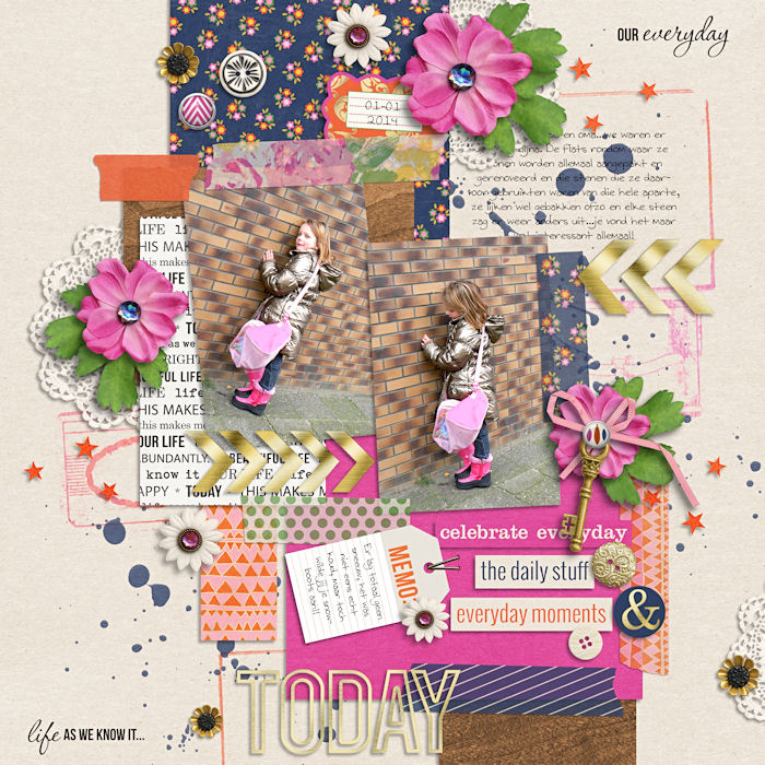digital layout by natascha using life as we know it kit by sahlin studio and sugarplum paperie