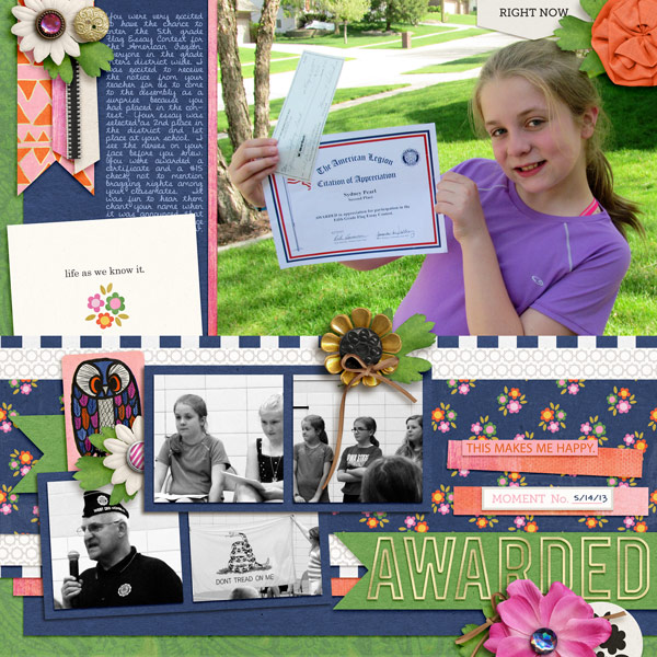 Everyday scrapbook layout by norton94 using Life As We Know It kit by sahlin studio and sugarplum paperie