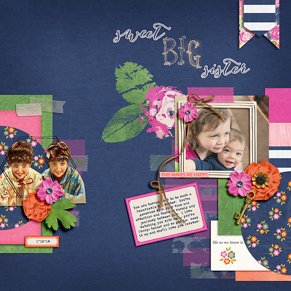 Everyday scrapbook layout by yellowpeep using life as we know it kit by sahlin studio and sugarplum paperie