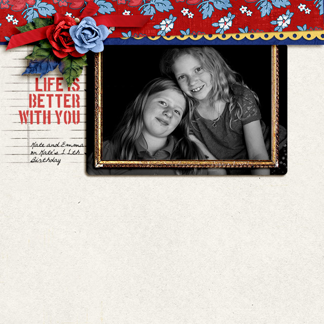 Life is Better With You digital layout by becca1976 using Stamped Sentiments Digital Word Art No. 2: Love by Sahlin Studio