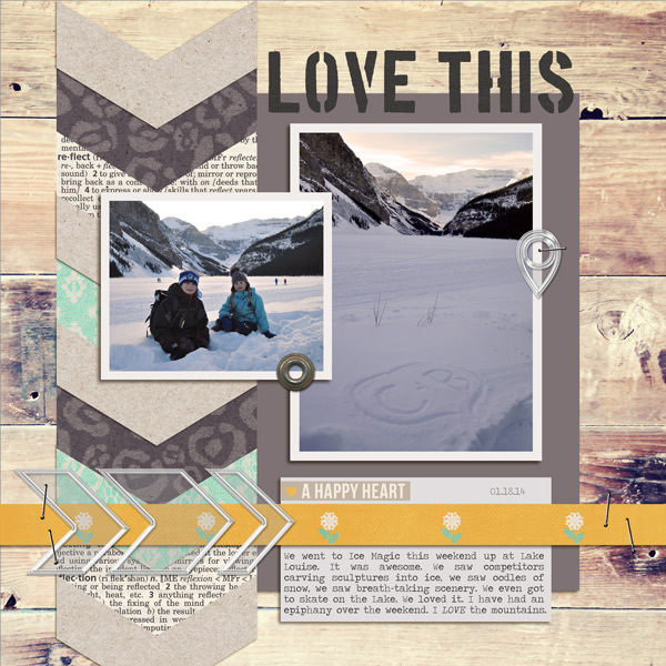 Love This digital layout by ctmm4 using Stamped Sentiments Digital Word Art No. 2: Love by Sahlin Studio