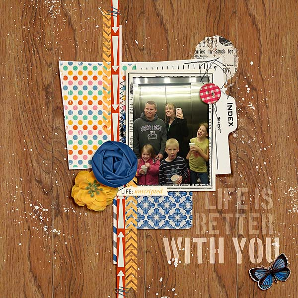 Life is Better with you digital layout by mamatothree using Stamped Sentiments Digital Word Art No. 2: Love by Sahlin Studio