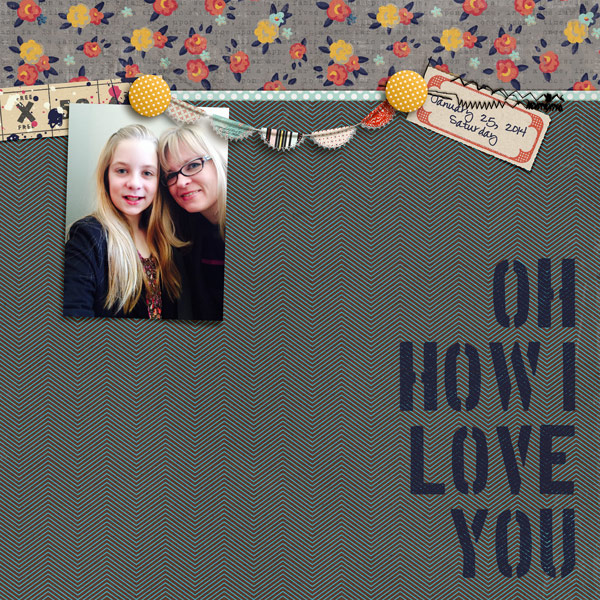 Oh how i love you digital layout by norton94 using Stamped Sentiments Digital Word Art No. 2: Love by Sahlin Studio