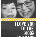 I Love You To The Moon and Back digital layout by taramck using Stamped Sentiments Digital Word Art No. 2: Love by Sahlin Studio