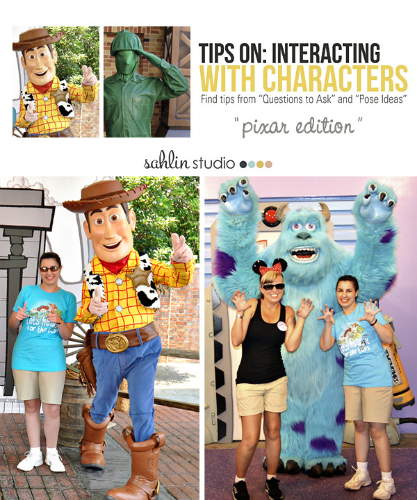 Tips & Pose Ideas On Interacting with Disney Pixar Characters: Sahlin Studio