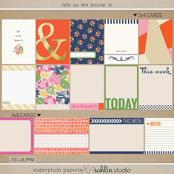 Life As We Know (Journal Cards) It by Sahlin Studio and Sugarplum Paperie