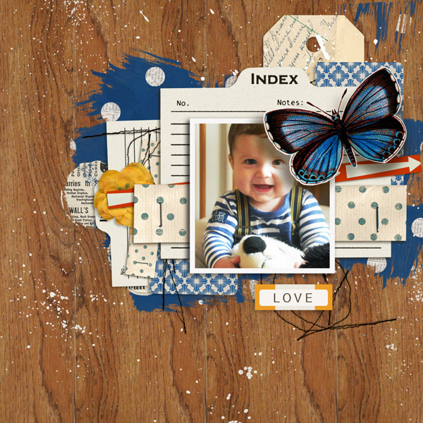 wonderful layout created by MlleTerraMoka featuring A Wonderful Day by Sahlin Studio