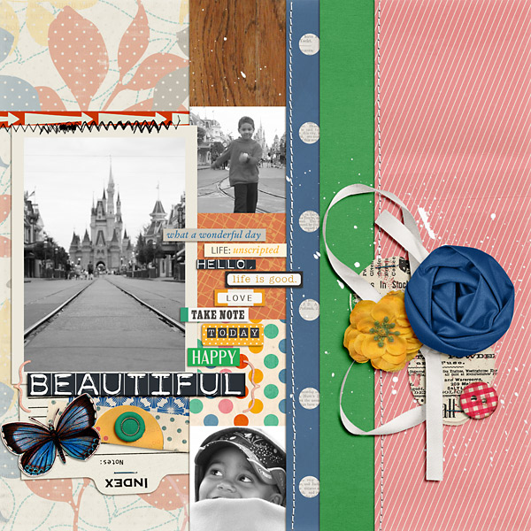 wonderful layout created by PuSticks featuring A Wonderful Day by Sahlin Studio