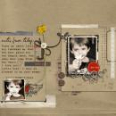 Boy digital scrapbook layout by davita featuring Grunge by Sahlin Studio