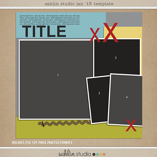 Year Of Templates 13 Digital Scrapbooking Sahlin Studio