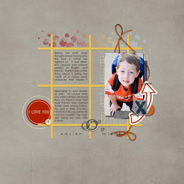 Boy digital scrapbook layout by bderby featuring Grunge by Sahlin Studio