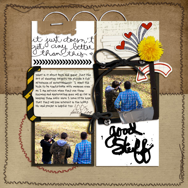Digital scrapbook layout by jenevang featuring Grunge by Sahlin Studio