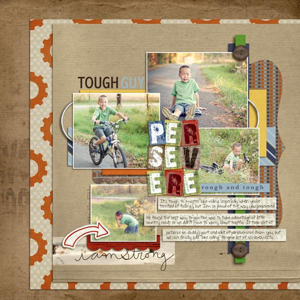 Boy digital scrapbook layout by mlewis featuring Grunge by Sahlin Studio