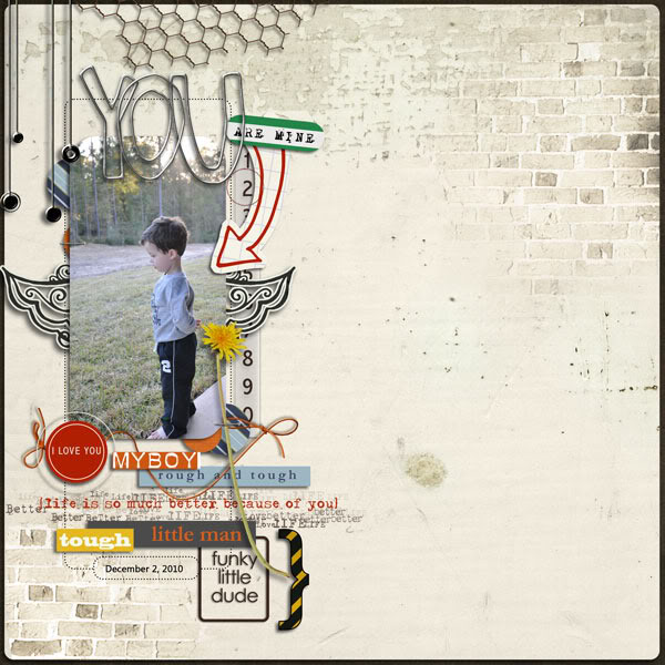 Boy Project Life Pocket Scrapbooking layout by mommy2boyz featuring Grunge by Sahlin Studio