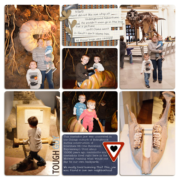 Boy Project Life Pocket Scrapbooking layout by plumdumpling featuring Grunge by Sahlin Studio
