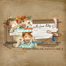 Boy digital scrapbook layout by leslie featuring Grunge by Sahlin Studio
