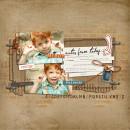 Boy digital scrapbook layout by leslie featuring Grunge by Sahlin Studio