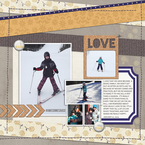 digital scrapbooking layout created by ctmm4 featuring the FREE March Template by Sahlin Studio