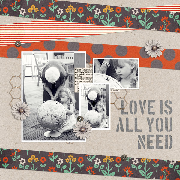 digital scrapbooking layout created by EHStudios featuring the FREE March Template by Sahlin Studio