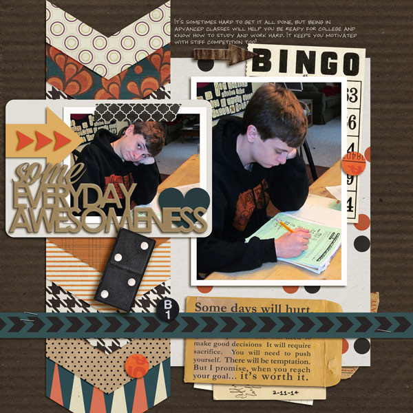 Everyday Awesomeness digital layout by norton94 using Journal Starter: Motivational Word Art by Sahlin Studio
