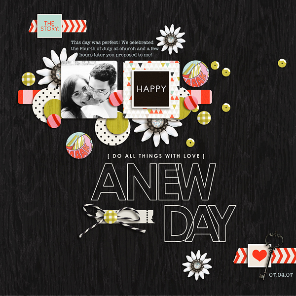 A New Day digital layout by raquels using Journal Starter: Motivational Word Art by Sahlin Studio