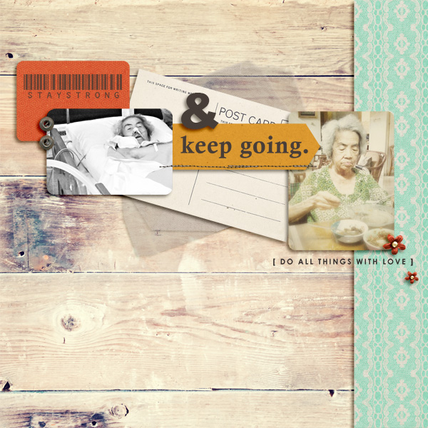 Inspirational digital scrapbooking layout by icajovita using Motivational Word Art by Sahlin Studio