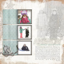 Inspirational digital scrapbooking layout by rlma using Motivational Word Art by Sahlin Studio