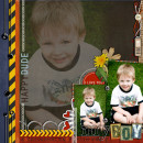 Boy digital scrapbook layout by cindys732004 featuring Grunge by Sahlin Studio