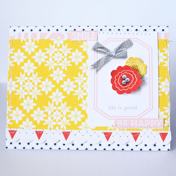 Life Is Good CARD hybrid project by Cristina using Pure Happiness by Sahlin Studio